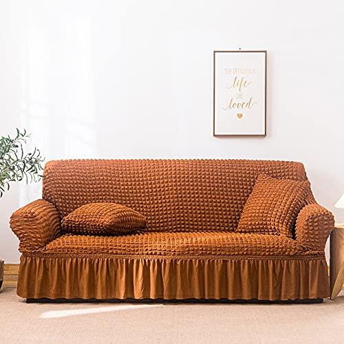 PPOS Farben Hochwertiger Seersucker Sofabezug Für Wohnzimmer Sofa Rock Anti-Staub Einzigartiger weicher Schonbezug Für Sofa Couchbezug A6 3 Sitze 190-230cm-1pc