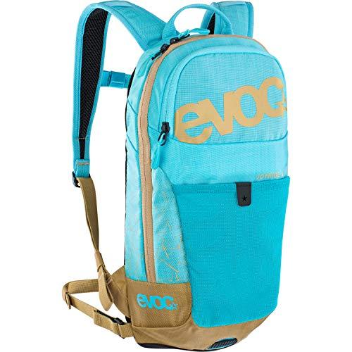 EVOC JOYRIDE 4 Kinderrucksack leichter Performance-Rucksack für Ausflüge & Outdoor Sport-Aktivitäten (4l Stauraum, AIR TUNE SYSTEM, abnehmbarer Hüftgurt, 2l Trinkblasenfach), Neon Blau / Gold
