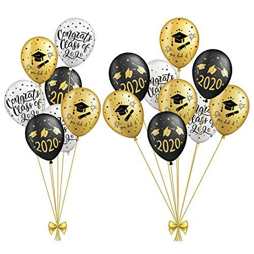 SUNBEAUTY Abschlussfeier Luftballons Graduation Dekoration 2020 Graduierung Party (15er Set)