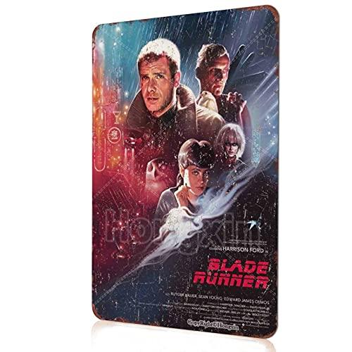 Blade Runner Cartel de película Metal Retro Cartel de Chapa Bar Tienda Cocina Divertida Decoración de Pared Carteles de Garaje 8X12 Pulgadas