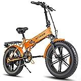 ENGWE EP-2 Pro - Bicicleta de montaña plegable (750 W, 20 pulgadas), color naranja oscuro