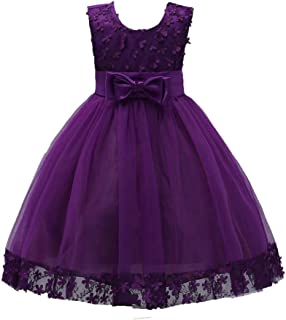 Girls Pageant Dresses Kids Prom Puffy Tulle Ball Gown Wedding Flower Girl Dress with Bowknot