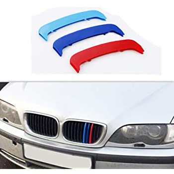 9 Grilles carado Front Grille Grill Cover for BMW 3 Series GT 3GT F34 328i 320i 335i xDrive 2013-2016 M Color Insert Trim Clips 3Pcs