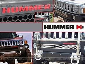 2006-2010 GMC HUMMER H3 Roof Rack Vinyl Letters Chrome Inserts Stickers Trim Kit