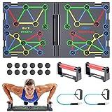 Push Up Rack Board, 20 in 1 pieghevole multifunzionale per allenamento a casa Attrezzature per il fitness, Telaio per allenamento push-up portatile, usato per uomini Donne per allenamento a casa
