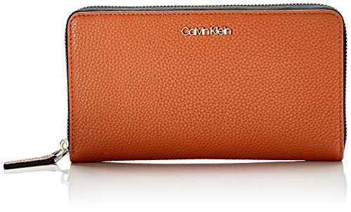 Calvin Klein Damen Neat Ziparound Wallet Xl Geldbörse, Braun (Cuoio), 1x1x1 cm