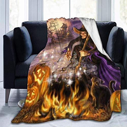 Happy All Hallows Eveair Conditioner Blanket Super Soft Micro Plush Blanket Manta...