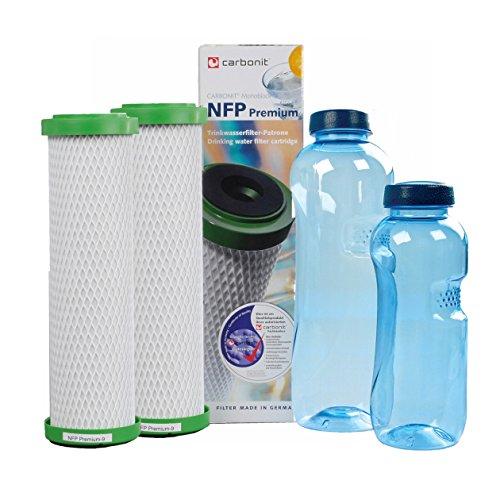 NFP-Premium Carbonit Paket 2 - GRATIS: 2 TRITAN-Flaschen - frei von Bisphenol-A
