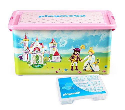Playmobil 064662 - Caja con compartimentos para juguetes, diseño de palacio de princesa