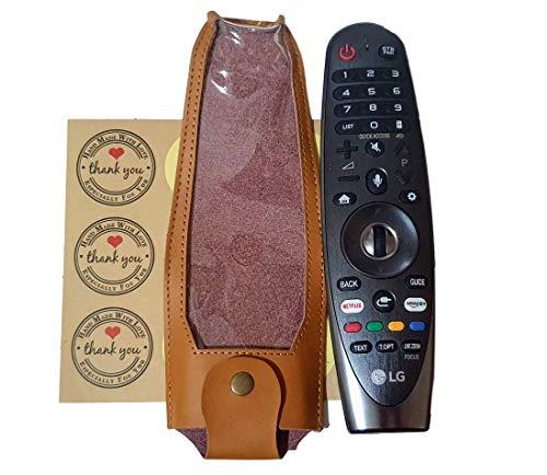 PremiumTech Schutzhülle für LG OLED TV 2019, 100 {0d32ef92ca6be9bf5b9217b5264a55b1bdbf22db999fca6424aa176e47be9ad2} echtes Leder, exquisit für LG Magic Smart TV Fernbedienung LG MR600 / AN-MR650 / AN-MR650A / AN-MR18BA