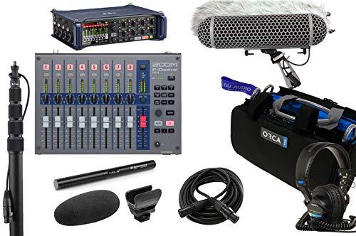 Zoom F8n Recorder & Sennheiser MKE600 Shotgun Mic Bundle with Zoom F-Control Mixing Surface, K-Tek Boompole, Orca Mixer Bag, Rode Blimp Windshield Kit, Sony MDR7506 Headphones & 6' XLR Cable