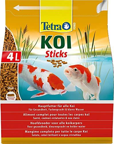 Tetra Pond Koi Sticks 4 L - Alimento completo para todos los peces Koi, Peces sanos, colores intensos y agua transparente