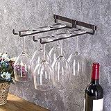 Salinr ワイングラスホルダー グラスハンガー ラック ワイングラスハンガー ワイングラスラック グラスホルダー 素晴らしい装飾 吊り下げ ネジ 付き 収納 2列