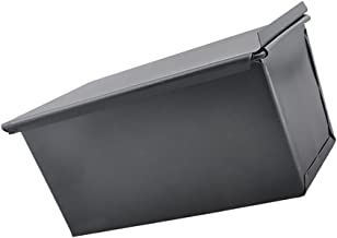 BAOBLADE 8inch Rectangle Nonstick Box Loaf Tin Pastry Bread Cake Baking Pan Bakeware, Perfect for Bread, Loaf, Pate and Ca...