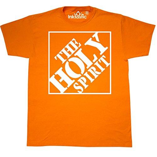 inktastic The Holy Spirit Christian T-Shirt X-Large Safety Orange