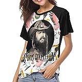 JENNASTOLZZ Womans Chris Stapleton Traveller Fashion Baseball Contrast Color Short Sleeves T Shirts Gift S Black