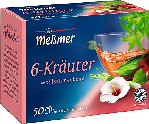 Meßmer 6-Kräuter-Mischung | 50 Teebeutel | Vegan | Glutenfrei | Laktosefrei
