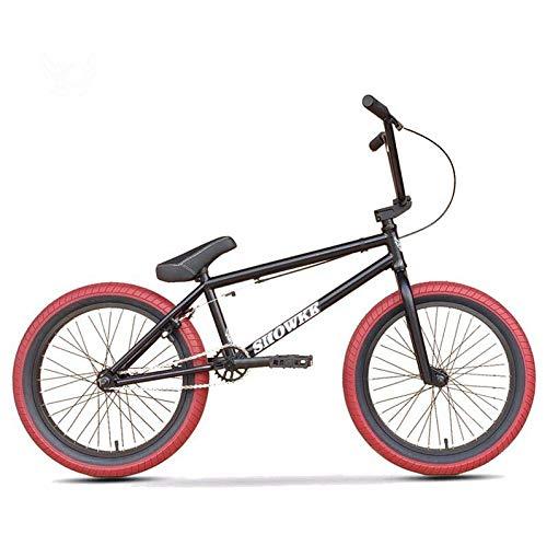GASLIKE Bicicleta BMX para niños y Adultos, niños y Principiantes a Jinetes avanzados, Ruedas de 20 Pulgadas, Marco de Acero de Cromo molibdeno de Alta Resistencia, Engranaje BMX 25x9T