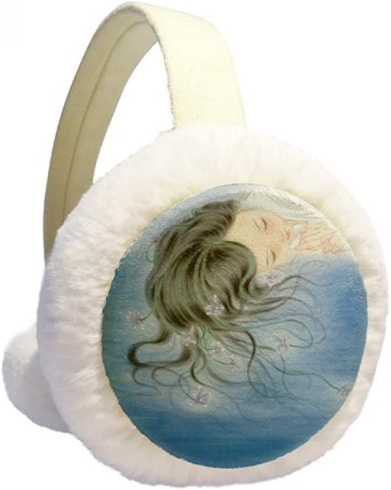 Orchid Fantasy Girl Chinese Style New York Mall Ear Warmer Under blast sales Watercolor C Winter