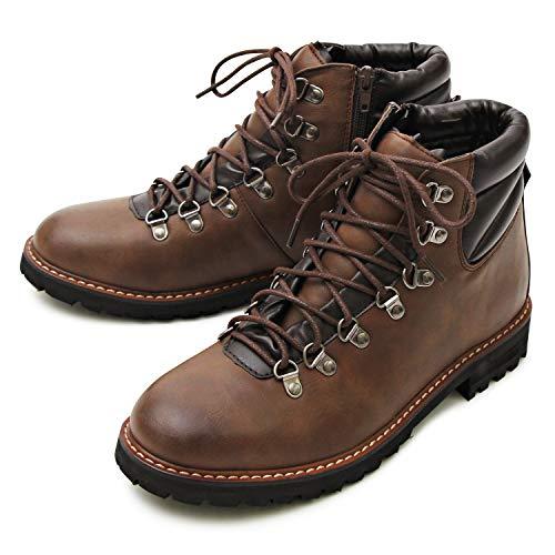 glabella グラベラ メンズ ブーツ マウンテン ワーク ミドルカット アンクル トレッキング ショート カジュアル タウンユース glbb-032-M-DBR サイズ:M(26.0cm-26.5cm) ダークブラウン ※返品不可