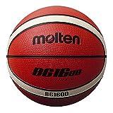 Molten BG1600 Baloncesto, Interior/Exterior, Goma, Talla 6, Naranja/Marfil, Adecuado para niños de 12, 13, 14 y niñas de 14 años y Adultos