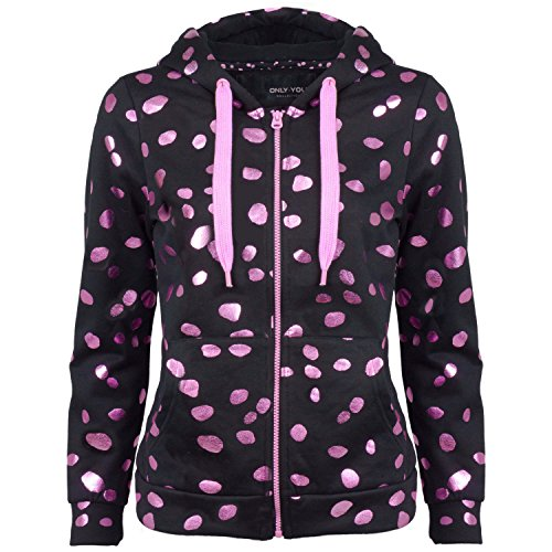 ONLY Damen Sweatjacke, Farbe:schwarz;Größe:S