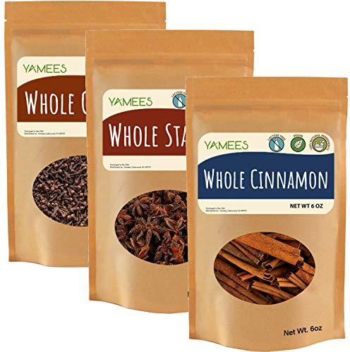 Cinnamon Sticks, Whole Cloves, and Star Anise