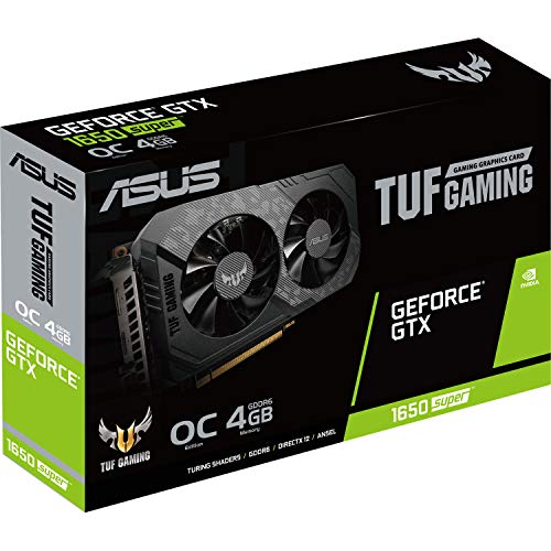 ASUS TUF Gaming GeForce GTX 1650 OC Edition 4 GB GDDR5, Scheda Video Gaming, Dissipatore Biventola per Gaming HD, Tecnologia AutoExtreme