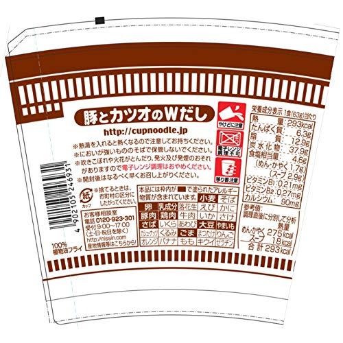日清おだしがおいしいカップヌードル肉だしうどん63g×20個