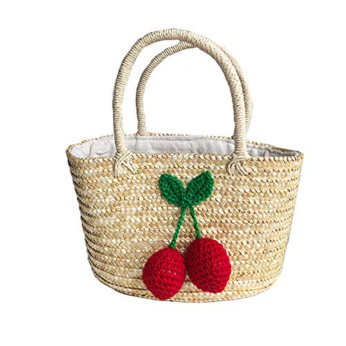 Purely hand-woven, the weaving texture is smooth and natural, environmentally friendly and beautiful, with good air permeability and durability. The stylish bag contains a lot of capacity, so bring the items you need out of the street without worry. ...