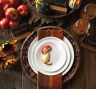 Corelle Livingware 32-Piece Dinnerware Set, Winter Frost White, Service For 8