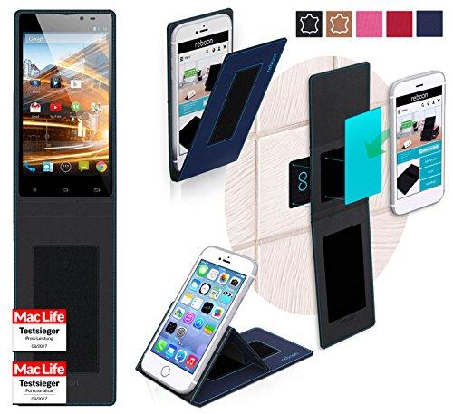 Hülle für Archos 50 Neon Tasche Cover Hülle Bumper | Blau | Testsieger