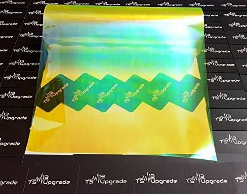 Scheinwerfer-Folie Oilslick Gelb Rückleuchten Folie Hell Schwarz Black 200x30 Tönungsfolie US Tuning Scheinwerfer Chameleon Oilslick Brand new Look (Oilslick Gelb)