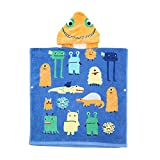 100% Cotton Kids Hooded Towel Monsters for Boy & Girl, Extra Large After Bath Wrap Towel with Hood for Big Kids Toddler, Super Absorbent & Soft Beach Towel Poncho with Cute Cartoon Design