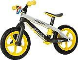 Chillafish BMXie-RS: BMX Balance Bike with Airless RubberSkin Tires, Yellow (Thunderball Lightning)