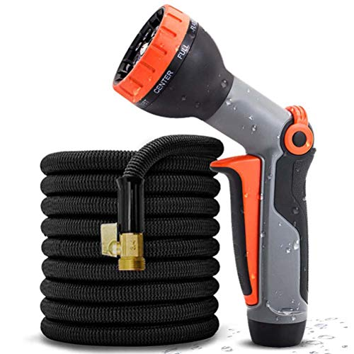 3 Times Expandable Garden Hose Water Pipe, Lightweight Flexible Anti-Leak Water Hose Pipe with 9 Function Spray Nozzle,for Car/Pet/Lawn Washing,30m