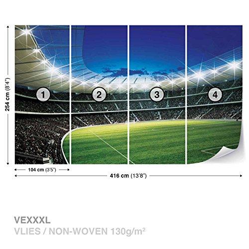 FORWALL Vlies Fototapete Tapete Vliestapete Dekoshop Fußball Stadion Kind AD323VEXXXL (416cm x 254cm) Photo Wallpaper Mural