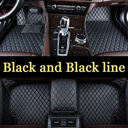 LUOLONG Auto-Fußmatten, Automatte Logo Auto-Fußmatten Für Mercedes Benz W203 W210 W211 Amg W204 Abcès Class CLS CLK Cla SLK Gla Glc Gls A20 Fußmatte, Schwarz Und Schwarz Linie