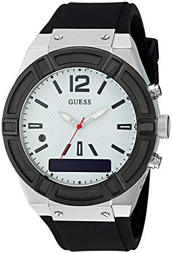 Guess Herren Analog-Digital Quarz Uhr mit Silikon Armband C0001G4