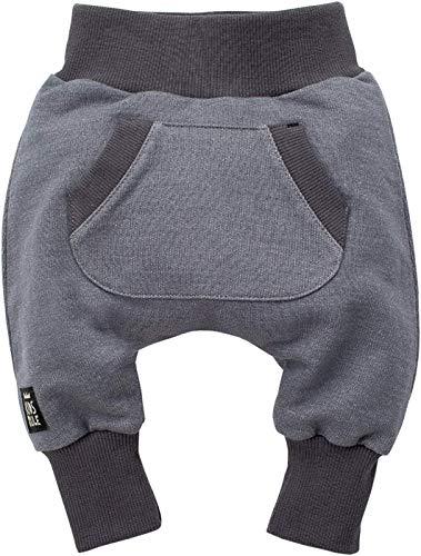Baby Hose 100/% Baumwolle grau Jogginghose Haremshose Pumphose Schlupfhose- elastischer Bund Happy Day Pinokio Unisex