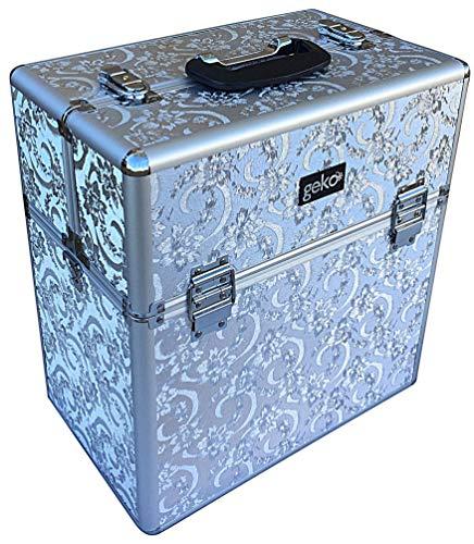 Geko Silver Leaf Kosmetikkoffer, Größe XL