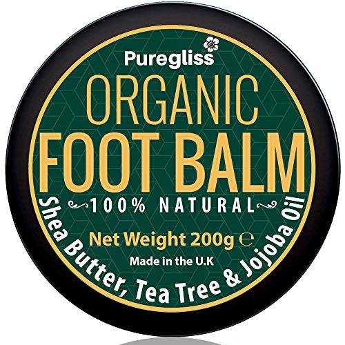 Organic Foot Balm by NatriGlo -Puregliss 200g for Dry Feet, Cracked Heels,...