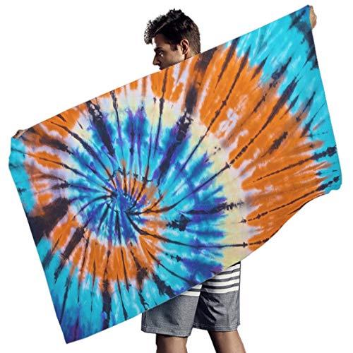 Yrgdskuvle Tie-dye - Toalla de playa (150 x 75 cm), multicolor