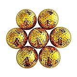 Pratique Balle d'exercice spéciale d'intérieur de Boule de Double Boule de Golf pour la Boule d'or de placage de Golf débutant Durable (Couleur : Or, Taille : 10 pcs)
