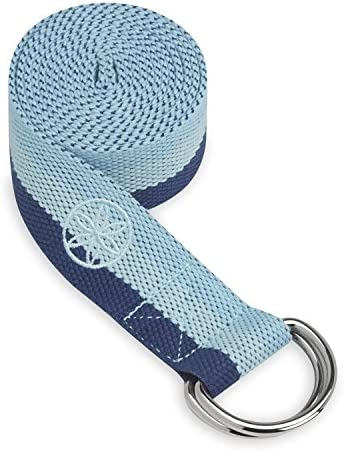 Gaiam Yoga Strap 6ft Stretch Band with Adjustable Metal D Ring Buckle Loop Exercise Fitness product image
