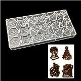 18 trous Jour de Noël Santa Claus Motif Moule chocolat Moules en polycarbonate, Bakeware Moule Pan bac à ce qui la rend, Candy Pâtisserie gâteau outils conteneurs de nourriture Plat