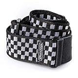 Jim Dunlop 32383102001 Guitar Strap, Black and White Checker