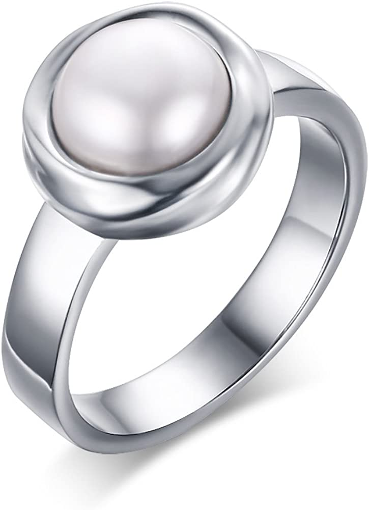 Max 51% OFF Stainless Steel Luxury goods Pure white Engagement Freshwater Cultured Pearl