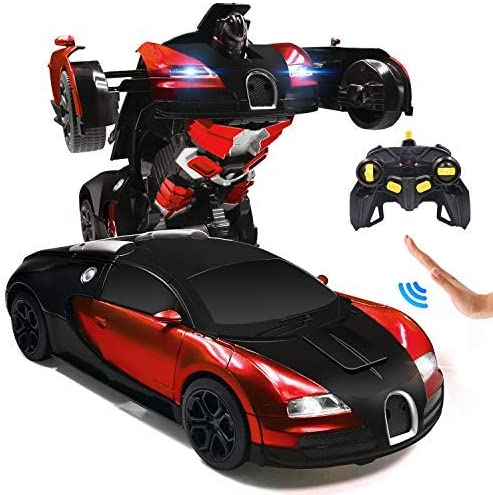 Ursulan RC Cars Robot for Kids Remote Control Car Transformrobot Gesture Sensing Toys with One-Button Deformation and...