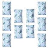 Paquetes de gel de sílice E-Cron Tyvek de 10 x 10 g. Desecante de bolsitas de gel de sílice reutilizables, seguras y puras. Bolsas deshumidificantes renovables: absorben la humedad.